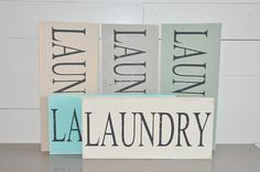 LAUNDRY Painted Sign - Wall Art - Distressed Hand Painted Laundry Room Sign - Cottage Chic - Farmhouse Style - Rustic Wood Sign - Gift