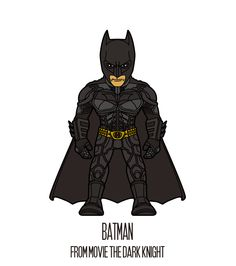 BATMAN   http://herosandvillains.tumblr.com/post/12234593918 by TM