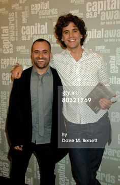 Lucio and Mika pose with the award for London's Favourite UK Album for 'Life in Cartoon Motion' in the awards room at the Capital 95.8 Awards for Help A London Child at the Park Plaza Riverbank on March 20, 2008 in London, England