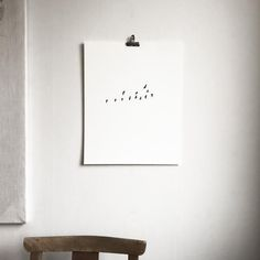 Birds Flock – screen print – jollygoodfellow Bird Migration, Flock Of Birds, White Paper, Flocking, Screen Printing, This Is Us, In This Moment, Pure Products, Black And White