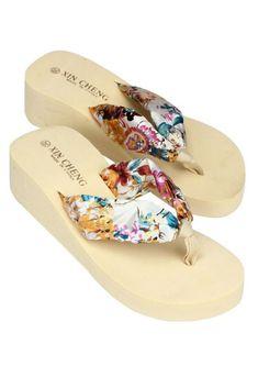 bd0a8efc5274c  Visit to Buy  siketu Best Gift New Fashion Bohemia Floral drop ship beach Sandals  Wedge Platform Thongs Slippers Flip Flops drop ship