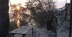 Ζημιές σε σπίτια από την πυρκαγιά στο Πόρτο Λάφια της Εύβοιας