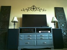 Refurbished Dresser Turned Entertainment Center