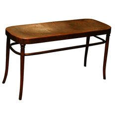 Viennese Bentwood Bench | From a unique collection of antique and modern benches at https://www.1stdibs.com/furniture/seating/benches/