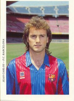Juan Carlos Rodríguez, born 19 January 1965, known as Juan Carlos, Spanish left back, Real Valladolid (1984–1987), Atlético Madrid (1987–1991), FC Barcelona (1991–1994), Valencia CF (1994–1995) and Real Valladolid (1995–1999). With Barça, he was relatively used in three consecutive La Liga titles by the Catalans. He played 297 league games as a professional, all in the top level, scoring two goals (both for Valladolid).