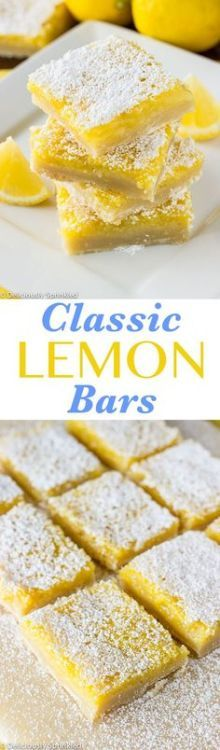 The BEST Classic Lemon Bars- the perfect lemon dessert everyone will love!