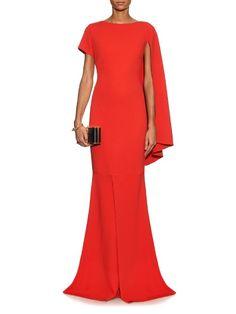 Osman Zenobia asymmetric sleeve crepe dress
