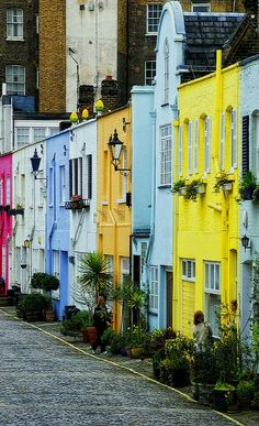 Colorful Houses, Paddington, London, England