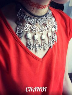 ORIGINAL necklace pendant choker tribal fusion freepeople gypsy bellydance boho