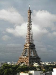 Eiffel Tower as seen from across the River Seine