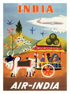 air-india-poster-1950s by nostalgicphotosandprints, via Flickr