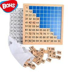 Find More Math Toys Information about BOHS Wooden Montessori Teaching Aids Math 1   100 Consecutive Numbers Counting Board Plate Toy,High Quality toy remote control car,China plate stack Suppliers, Cheap plate pasteurizer from BOHS Official Store on Aliexpress.com