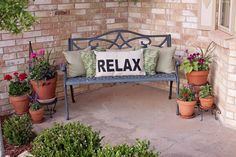 Tracy's Trinkets and Treasures: RELAX Pillow