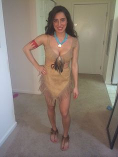 Homemade Pocahontas costume made and worn by me ! #makeup #Pocahontascostume