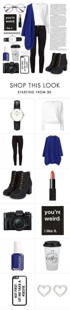"""""""White shirt winter look"""" by amlove26 ❤ liked on Polyvore featuring Daniel Wellington, T By Alexander Wang, Ted Baker, NARS Cosmetics, Fuji, Essie and Marc by Marc Jacobs"""