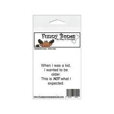Found it at Blitsy - Riley & Company Funny Bones Cling Stamps - When I Was A…