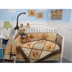 Soho Designs 13 Piece Classic American Teddy Bear Baby Crib Nursery Bedding Set