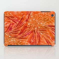 Spice Island iPad Case by Vikki Salmela   Society6, #tropical #jungle #batik #Bohemian #Boho tropic #orange #art on #tech #designer #cases, for #iPad and other devices. Great for #travel, #office, #school or fun yet useful #gift.