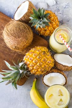 Summer with ELEMIS - pineapple and coconut juice bar. Exotic Fruit, Tropical Fruits, Photo Fruit, Traditional Indian Food, Fruit Photography, Fruits And Veggies, Vegetables, Fresh Fruit, Fruit Juice