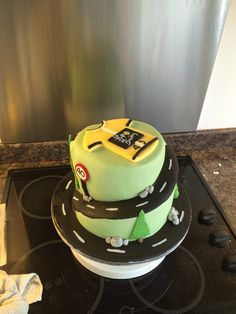 40th birthday cycling cake