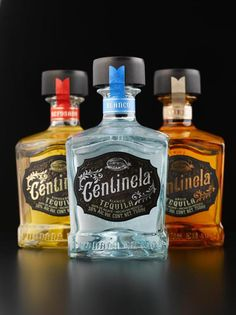 Our Centinela Tequila bottles on Área Visual