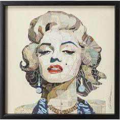 """Shop for """"Beautiful Marilyn"""" Glass Art Metal Rose Gold Frame Wall Art - Multi-color. Get free delivery On EVERYTHING* Overstock - Your Online Art Gallery Store! Gold Frame Wall, Black Framed Wall Art, Black Wall Art, Rose Gold Frame, Frames On Wall, Marilyn Monroe Wall Art, Beautiful Collage, Fall Mantel Decorations, Wall Art Quotes"""