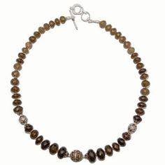 Necklace Silver Smokeyquartz Jewerly 18 Inches (Jewelry)