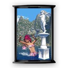 Dancing Mermaid Large Serving Tray A mermaid dancing around a statue of an angel! A wonderful ocean scene  €45.50