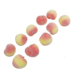 Water and Wood 10 Pcs Faux Foam Craft Peach Simulation Fruits Table Decor >>> Details can be found by clicking on the image.