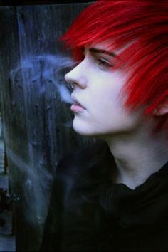 Red hair HE LOOKS LIKE HE SHOULD BE IN IMMORTAL INSTRUMENTS BOOK like fr he is sooo cute XD I never seen that hair plus he looks like marble!
