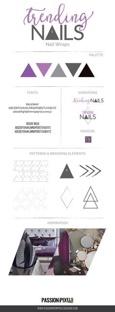 Passion for Pixels Style Guide for Trending Nails Brand Design Package Pixel Design, Brand Style Guide, Nail Wraps, Brand Design, Fashion Branding, Logo Branding, Style Guides, Packaging Design, Passion