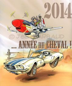Happy New Year.of the Horse ! Planes Characters, Cartoon Plane, The Art Of Flight, Mustang Logo, Airplane Art, Garage Art, Aircraft Design, Aviation Art, Cool Cartoons