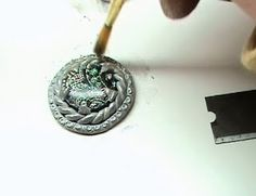 Polymer Clay Bytes! - Tina Holden's Beadcomber: Making Polymer Clay Bezels and maybe a Ring