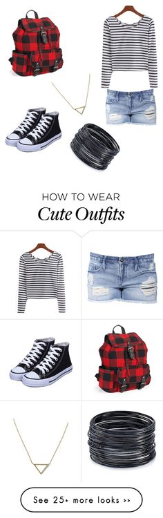 """""""Cute fall/back to school outfit"""" by lexinabe on Polyvore featuring Black Orchid, Aéropostale, Banana Republic and ABS by Allen Schwartz"""