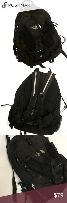The North Face Recon black backpack Black recon backpack by The Northface. Definite wear throughout, could use a good cleaning. Still fully functional/durable and has many years left. The North Face Bags Backpacks