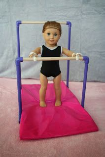 Arts and Crafts for your American Girl Doll: Gymnastics mat for American Girl Doll
