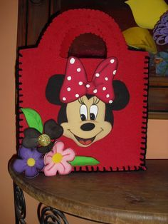 This Pin was discovered by Eli Minnie Birthday, Minnie Mouse Party, Mouse Parties, Mickey Mouse, Foam Crafts, Diy Crafts, Mouse Crafts, Muppet Babies, Puppet Crafts