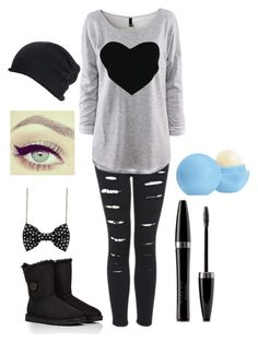 """""""Winter Weather"""" by destinee-hogeland ❤ liked on Polyvore featuring UGG Australia, H&M, Retrò, Mary Kay and Eos"""