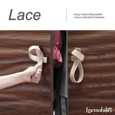 #Handle with love! LACE  personalises #wardrobe  or #sliding doors with a soft touch. Buy it online on https://www.formabilio.com/shop/home-accessories/furnishings/lace-wardrobe-handle