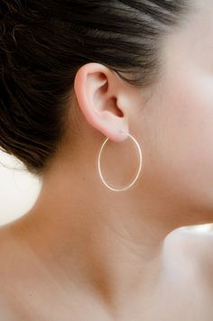 Large Hoops Sterling Silver Gold Filled Hammered by lunaijewelry