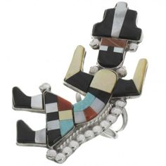Inlaid Zuni Rainbow Man Ring 26493  | Alltribes
