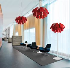 Hanging or floor lamps: Plumage, lush feather
