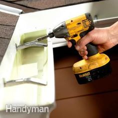 Learn easy DIY gutter repairs for the most common gutter problems.