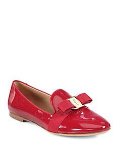 Salvatore Ferragamo - Scotty Patent Leather Smoking Slippers