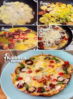 Potato Pizza Recipe, How to - Kartoffel Potato Pizza Recipe, Pizza Recipes, Most Delicious Recipe, Delicious Fruit, Turkish Recipes, Ethnic Recipes, Pizza Wraps, Good Food, Yummy Food