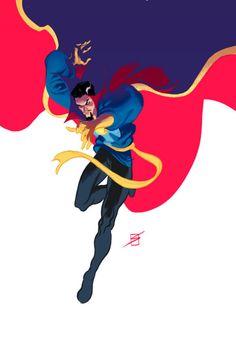 Doctor Strange by Ron Salas Comic Book Characters, Marvel Characters, Comic Books Art, Comic Art, Comic Pics, Marvel Art, Marvel Dc Comics, Marvel Avengers, Spiderman Marvel
