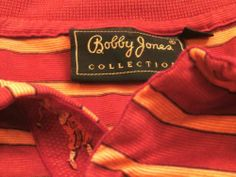Bobby Jones Collection Golf Shirt XL Embroidered Placket Golfers Placket Mint | eBay