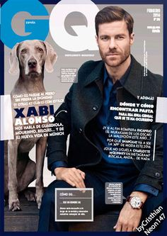 Buy GQ Spain Magazine subscription or single issue. International mens fashion magazines on discount from USA's leading online mag store. Mens Fashion Magazine, Gq Magazine, Magazine Design, Magazine Covers, Xavi Alonso, Male Fashion Trends, Cover Design, Fashion Photography, Handsome