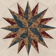 Newport Compass Quilt Block Pattern