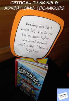 Children learn how advertisers persuade them to purchase items and services through analyzing fun #classroom #library book Ads. #education #teaching